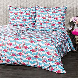 4Home Bavlnené obliečky Flamingo, 140 x 220 cm, 70 x 90 cm, 140 x 220 cm, 70 x 90 cm