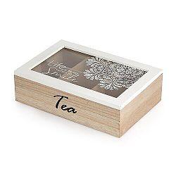 Altom Drevená kazeta na čaj so skleneným vekom 24 x 16 x 7 cm