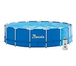 Bazén Florida 4,57 x 1,22 m s kartušovou filtráciou a schodíkmy