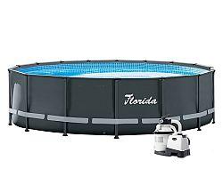 Bazén Florida Premium Grey 4,88 x 1,22 m s príslušenstvom na sprevádzkovanie