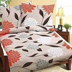 Bellatex Obliečky krep Oranžová jiřina, 240 x 220 cm, 2 ks 70 x 90 cm