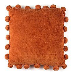 BO-MA Vankúšik Pompon oranžová, 45 x 45 cm,
