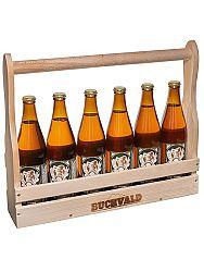 BUCHVALD drevený nosič piva + 6 pivo Buchvald 10% 500ml