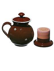 Bylinkáč - hrnček na čaj hnedý