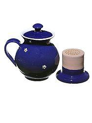 Bylinkáč - hrnček na čaj modrý