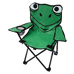 CATTARA FROG malá skladacia kempingová stolička zelená