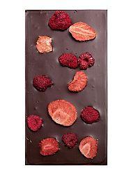 Čokoláda horká s lyofilizovanými jahodami a malinami