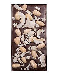 Čokoláda horká s mandľami a kokosom
