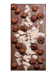 Čokoláda mliečna s lieskovcami a kokosom