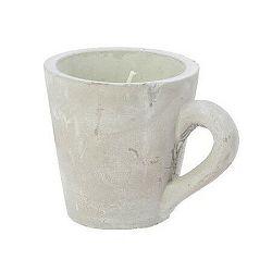 Dekoratívna sviečka Mug zelená, 10,5 cm