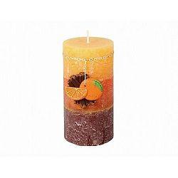 Dekoratívna sviečka Škorica a pomaranč, 9 cm