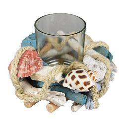 Dommio Ratanový svietnik na čajovou sviečku Mare, 19 cm