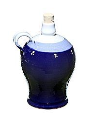 Fľaša keramická modrá
