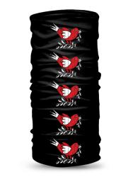 Folklórna multifunkčná šatka vrabec retro