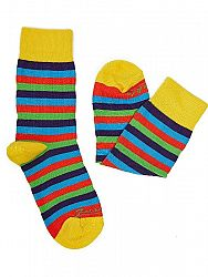 Fusakle ponožky detský multikulturalista M 31 - 35