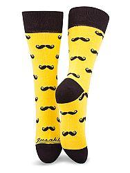 Fusakle ponožky fúzač žltý M 39 - 42