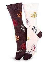 Fusakle ponožky Lístie L 43 - 46