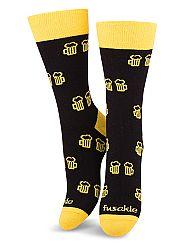 Fusakle ponožky Na zdraví čierne M 39 - 42