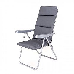HAPPY GREEN Židle zahradní skládací LOARA 68x58x107cm, antracit