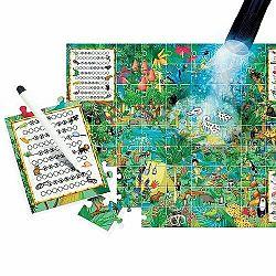 Headu Puzzle Explore s magickým svetlom: Preskúmaj prales 70 dielikov