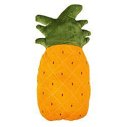 JAHU Tvarovaný vankúšik Ananás oranžová, 20 x 45 cm