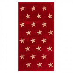 JAHU Uterák Stars červená, 50 x 100 cm