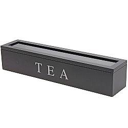 Koopman Box na čajové vrecúška 43 x 9 x 8,7 cm, čierna