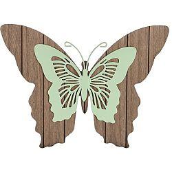 Koopman Drevená závesná dekorácia Motýlie mámenie, zelená