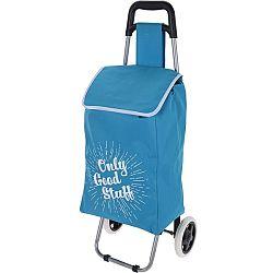 Koopman Nákupná taška na kolieskach Only Good Stuff, modrá