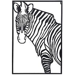 Koopman Závesná kovová dekorácia Zebra biela, 30 x 40 cm