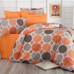 Kvalitex Bavlnené obliečky Delux Targets oranžová, 200 x 200 cm, 2 ks 70 x 90 cm