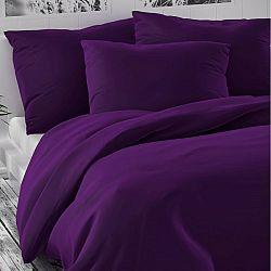 Kvalitex Saténové obliečky Luxury Collection tmavo fialová, 220 x 220 cm, 2 ks 70 x 90 cm