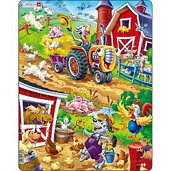 Larsen Puzzle Zvieratá na dvore, 22 dielikov
