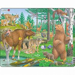 Larsen Puzzle Zvieratá v lese, 29 dielikov