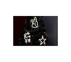 LED dekorácia na okno FROST- 3 ks - sob, snehuliak, hviezda