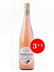 Levanduľové víno ružové Levanduland 0,75l 3+1 grátis