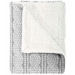 Mistral Home Baránková deka Cable knit sivá, 150 x 200 cm