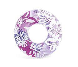 Nafukovacie koleso 91 cm - kvetinové vzory, fialová farba