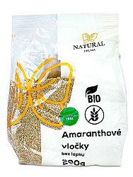 NATURAL JIHLAVA BIO amaranthové vločky bez lepku 200g