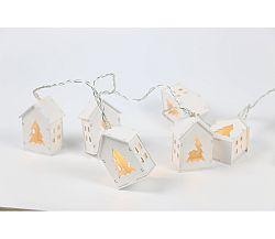 Nature reťaz s domčekmi 10 LED - biela