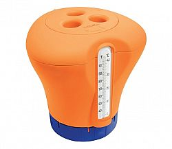 Plavák na chlór s teplomerom - oranžová
