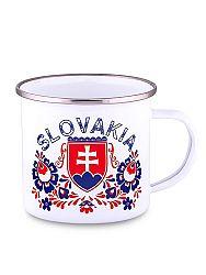 Plechový hrnček Slovakia znak folk