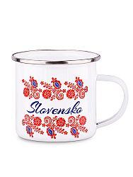 Plechový hrnček slovenské kvety