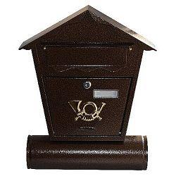 Poštová schránka antika, hnedá