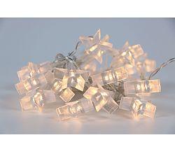 Reťaz s hviezdami - biela (20 LED)
