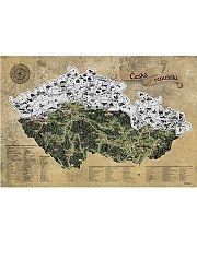 Stieracia mapa Česko - strieborná