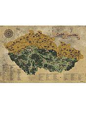 Stieracia mapa Česko - zlatá