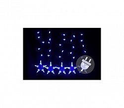 Svetelný záves hviezdy - 5 ks - 100 LED - modrá