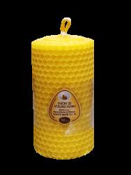 Sviečka zo včelieho vosku 100mm/50mm