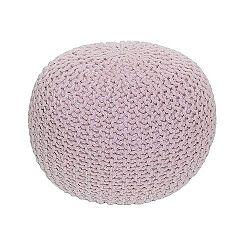 Tempo Kondela Pletený taburet Gobi 1, ružová